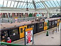 NZ3669 : Train at Tynemouth Metro Station by Andrew Curtis