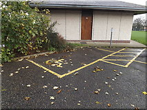 TM1179 : Disabled parking space in Park Road Car Park by Adrian Cable