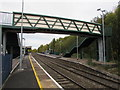 SJ5441 : Whitchurch (Shropshire) railway station footbridge and CCTV cameras by Jaggery