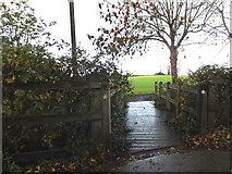 TM2374 : Footpath off the B1117 Laxfield Road by Adrian Cable