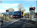 TQ6747 : Level crossing at Beltring by Malc McDonald