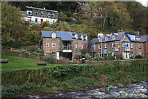 SS7249 : Houses overlooking East Lyn River, Lynmouth by Ian S