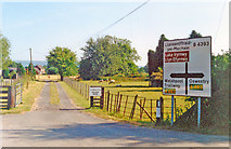 SJ2618 : Four Crosses, view southward from B4393 by the cross-roads with A483 by Ben Brooksbank