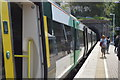 TQ8009 : Southern train at St Leonards Warrior Square Station by N Chadwick