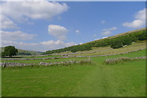 SD9771 : Crossing fields in Wharfedale on the way to Kettlewell by Tim Heaton