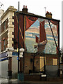 TQ5178 : Thames Barge mural, Erith by Julian Osley