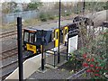 NZ3064 : Train at Hebburn Metro Station (Platform 2) by Andrew Curtis