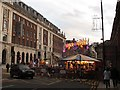 SE2933 : Funfair on Cookridge Street  by Stephen Craven