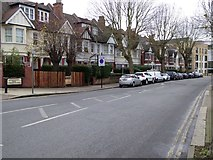 TQ2284 : Trees lining the west end of Brondesbury Park by David Smith
