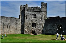 ST5394 : Chepstow Castle: The rear face of Marten's tower by Michael Garlick