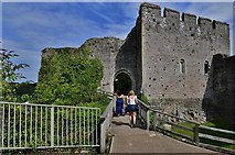 ST5394 : Chepstow Castle: Marshal's tower and gateway from the upper barbican by Michael Garlick