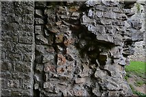 ST5394 : Chepstow Castle: Upper barbican construction detail by Michael Garlick