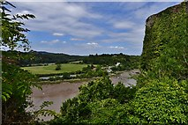 ST5394 : Chepstow Castle: The river Wye from the upper barbican by Michael Garlick