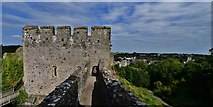 ST5394 : Chepstow Castle: Marshal's tower from the later ramparts by Michael Garlick