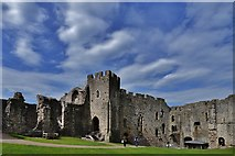 ST5394 : Chepstow Castle: Roger Bigod's later c13th domestic block 1 by Michael Garlick