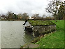 SK4976 : The old boathouse by Harlesthorpe Dam by Neil Theasby