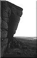 SK2581 : The Leaning Block, Higger Tor by Richard Webb