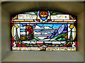 SJ8499 : Spanish and Portuguese Synagogue, Stained Glass Window (Burning Bush) by David Dixon