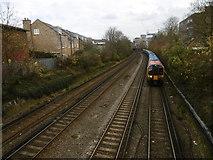TQ2375 : The railway lines near Putney station by Marathon