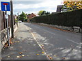 SJ5440 : No Through Road sign, Edgeley Road, Whitchurch (Shropshire) by Jaggery