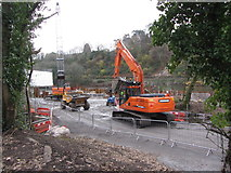 ST1380 : Construction work at Radyr Weir by Gareth James