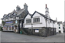 SD3598 : Centre of Hawkshead by Nigel Mykura