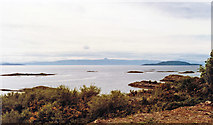 NG7528 : Across the Inner Sound to Raasay and Skye from Badicaul, north of Kyle,1994 by Ben Brooksbank