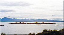NG7528 : Westward across the Inner Sound from Badicaul to Crowlin Islands, Raasay and eastern (Trotternish) part of Skye by Ben Brooksbank