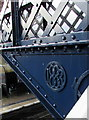 SJ8104 : Year 1883 on Albrighton railway station footbridge by Jaggery