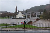 NT2540 : Priorsford Bridge closed, Peebles (1) by Jim Barton
