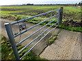 TL3870 : Five barred gate with five padlocks by Richard Humphrey