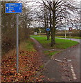 SJ8005 : Cycle route 81 distances sign, Cosford by Jaggery