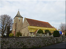 TQ5802 : St Mary, Willingdon: front by Basher Eyre