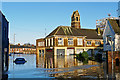 NY4056 : The Old Fire Station, flooded by Rose and Trev Clough