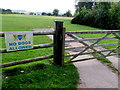 SO5931 : No Dogs Allowed on Brockhampton Cricket Club's ground by Jaggery