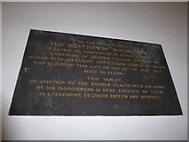 TQ5802 : St Mary, Willingdon: memorial (5) by Basher Eyre