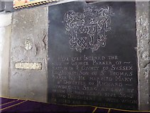 TQ5802 : St Mary, Willingdon: ledger slab by Basher Eyre