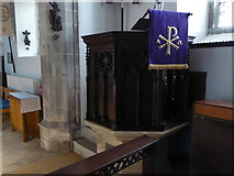 TQ5802 : St Mary, Willingdon: pulpit by Basher Eyre