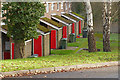SU9457 : Red MOD doors, Billesden Road by Alan Hunt