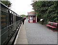 SZ5391 : Train and guard at Wootton  railway station by Jaggery