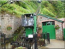 SS7249 : Lynmouth Cliff Railway by Oliver Mills