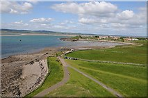 NU1341 : View west from Lindisfarne Castle by Philip Halling
