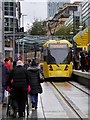 SJ8498 : New Tram Stop at Exchange Square by David Dixon