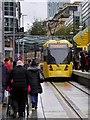 SJ8498 : New Tram Stop at Exchange Square by David Dixon
