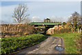 SJ5076 : The railway bridge over Godscroft Lane by Ian Greig