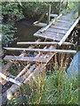 NO5504 : Deteriorating footbridge by James Allan