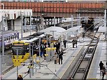 SJ8499 : Metrolink Tram at Victoria Station by David Dixon