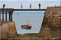 NZ8911 : West pier bridge, Whitby by Oliver Mills