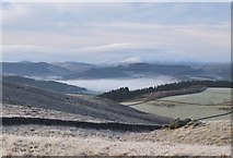 NT2341 : Mist over the Tweed valley by Jim Barton