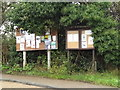 TL3656 : Toft Village Notice Boards on the B1046 Comberton Road by Adrian Cable